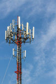 Mobile phone Telecommunication Radio antenna Tower.  — Stock Photo