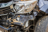 Details of a crash car an accident.  — Stock Photo