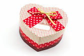 Gift box shaped heart. — Stock Photo