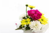 Carnation and chrysanthemum flower in vase. — Stock Photo