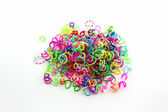 Group of Colorful elastic rainbow loom bands. — Stock Photo
