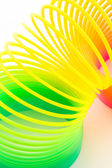 Rainbow colored wire spiral. — Stock Photo