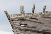 Remains of the old wooden ship — Stock Photo