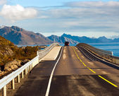 Djupfjord bridge near Reine on Lofoten islands in Norway — Stock Photo