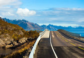 Djupfjord bridge near Reine on Lofoten islands in Norway — Stock Photo
