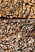 Fireplace logs for winter time — Stock Photo