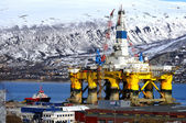 Oil platform in Tromso — Stock Photo