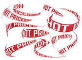 Various hot prices shopping direction arrows set — Vettoriale Stock