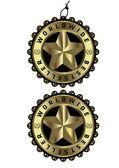 Worldwide bestseller unique luxury golden label & tag — Stock Vector