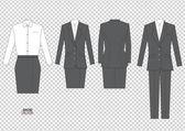 Woman girl female business office work vector dress code — Stock Vector