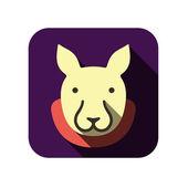 плоский дизайн животных пользовательского интерфейса — Cтоковый вектор