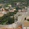 The wall of the Old Town, Dubrovnik, Croatia — Stock Photo