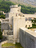 Part of the fortress wall and watchtower of the old town — Stock Photo