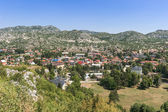 Small town with a bird's-eye view — Stock Photo