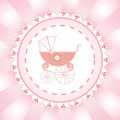 Greeting card for newborn girl — Stock Vector
