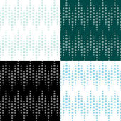 Original 4 patterns with snow flakes — Stock Vector