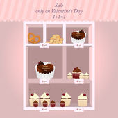 Sale on Valentine day — Stock Vector