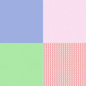 Set of seamless pattern mosaic — Stock Vector