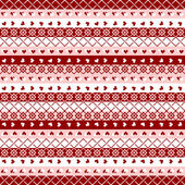 Seamless pattern red jacquard — Stock Vector