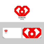 Red heart logo — Stock Vector