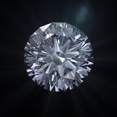 Forever round diamond with clipping path — Stock Photo