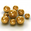 Gold pearls with clipping path — Foto Stock #38077509