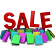Various color of shopping bag on sale promotion, clipping path i — Stock Photo #38078161