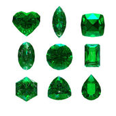 Group of emerald shape with clipping path — Stock Photo