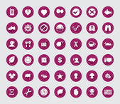 Miscellaneous flat icon set with long shadow for web and mobile 04 — Stock Vector
