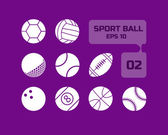 Sport ball flat icon for web and mobile set02 — Stockvektor