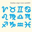Zodiac sign icon set 01 — Stock Vector