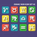 Zodiac icon set 02 — Stock Vector