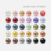 Olika pärla färguppsättning — Stockvektor