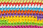 Colorful knitting texture — Stock Photo