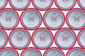 Pattern drink cans — Stock Photo