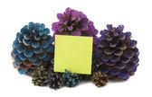Devět ananas s papírem — Stock fotografie