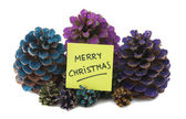Nine pineapples with new year paper — Stock Photo