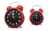 Red old style alarm clock 3d — Stock Photo