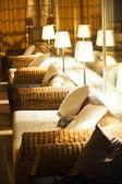 Comfortable night interior — Stock Photo