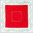 Christmas red cloth — Stock Photo