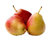 Red with yellow pears isolated on white — Stock Photo