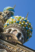Dome of Church of Savior on Spilled Blood, St. Petersburg, Russia — Stock Photo