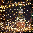 Christmas night Moscow atmosphere holiday background — Stock Photo
