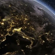 Fly over city lights from Space till morning — Stock Video #35222923