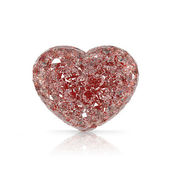 Diamonds heart shaped gemstone isolated on white background — Stock Photo