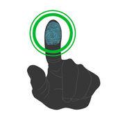 Touch, ID, Fingerprint scan Access Symbol — Stock Vector