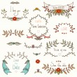 Set of beautiful flourish frames and dividers. — Vector de stock  #32967239