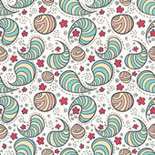 Seamless pattern with abstract drops or bacterias. — Stock Vector