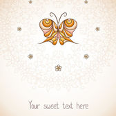 Elegant background with butterfly. — Stock Vector