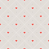 Stitched seamless pattern with hearts. — Stock Vector